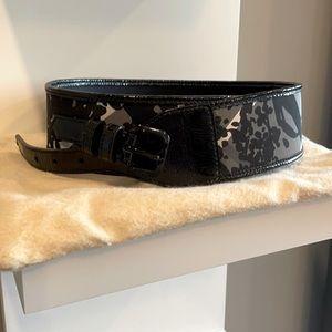 Burberry wide belt